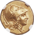 Ancients:Greek, Ancients: MACEDONIAN KINGDOM. Alexander III the Great (336-323 BC). AV stater (19mm, 8.59 gm, 11h). NGC Choice MS 5/5 - 5/5, Fine Style....