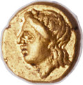 Ancients:Greek, Ancients: CARIAN SATRAPS. Pixodarus (341-335 BC). AV 24th stater(6mm, 0.34 gm, 1h). NGC (photo certificate) Choice XF 5/5 - 4/5....