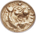 Ancients:Greek, Ancients: LYDIAN KINGDOM. Alyattes or Walwet (ca. 610-561 BC). EL12th stater or hemihecte (7mm, 1.15 gm). NGC Choice AU 5/5 -5/5....