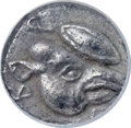 Ancients:Greek, Ancients: LESBOS. Uncertain city. Ca. 550-450 BC. BI obol or 24thstater (6mm, 0.44 gm). NGC Choice AU ★   5...