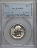 Washington Quarters, 1971 25C MS66 PCGS. PCGS Population: (71/4). NGC Census: (43/3). Mintage 109,284,000. ...