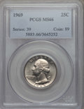 Washington Quarters, 1969 25C MS66 PCGS. PCGS Population: (141/5). NGC Census: (51/6). Mintage 176,212,000. ...