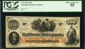 "Confederate Notes:1862 Issues, Issued ""Nov. 20 1862 Major J(ames) F. Cummings"" T41 $100 1862.. ..."