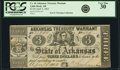 Obsoletes By State:Arkansas, Little Rock, AR - Arkansas Treasury Warrant $3 Apr. 4, 1862 Cr. 44. ...