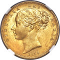 Great Britain: Victoria gold Sovereign 1850 MS65 NGC