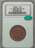 1856 1C Slanted 5, N-3, R.1, MS64 Red and Brown NGC....(PCGS# 406200)