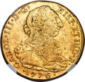 Colombia, Colombia: Charles III gold 8 Escudos 1776 NR-JJ VF30 NGC,...
