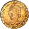 Colombia, Colombia: Republic gold 8 Escudos 1830 BOGOTA-RS AU58 NGC,...
