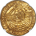 Great Britain: Henry VI (First Reign, 1422-1461) gold Noble 1422-c. 1430 MS62 NGC