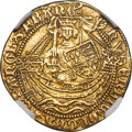 Great Britain: Henry VI (First Reign, 1422-1461) gold 1/2 Noble 1422-c. 1430 AU55 NGC