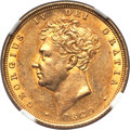 Great Britain, Great Britain: George IV gold Sovereign 1829 AU58 NGC,...