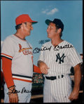 Autographs:Photos, Mickey Mantle & Stan Musial Multi-Signed Photograph. ...