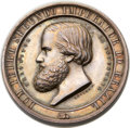 Brazil, Brazil: Pedro II silver and gold Mining Exposition Medal Pair1863,... (Total: 2 coins)