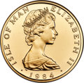 Isle of Man, Isle of Man: British Dependency. Elizabeth II gold Proof Angel (1 oz) 1984 PR70 Ultra Cameo NGC,...