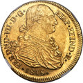 Colombia, Colombia: Ferdinand VII gold 8 Escudos 1819 P-FM AU58 NGC,...