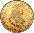 Chile, Chile: Charles III gold 8 Escudos 1763 So-J XF45 NGC,...