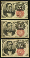 Fractional Currency:Fifth Issue, Fr. 1265 10¢ Fifth Issue VF;. Fr. 1266 10¢ Fifth Issue Two ExamplesVF.. ... (Total: 3 notes)