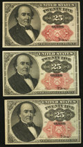 Fractional Currency:Fifth Issue, Fr. 1308 25¢ Fifth Issue Two Examples XF or Better;. Fr. 1309 25¢ Fifth Issue Choice About New.. ... (Total: 3 notes)