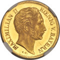 German States:Bavaria, German States: Bavaria. Maximilian II gold Ducat 1853 MS62 NGC,...