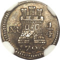Colombia, Colombia: Charles IV 1/4 Real 1796-NR MS62 NGC,...