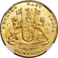"""India:British India, India: British India. Madras Presidency - East India Company gold """"Large Lettering"""" Mohur ND (1819) MS64 NGC,..."""