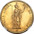 Italy:Lombardy-Venetia, Italy: Lombardy-Venetia. Provisional Government gold 20 Lire 1848-MMS63 NGC,...