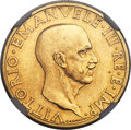 Italy, Italy: Vittorio Emanuele III gold 100 Lire 1936-R Anno XIV MS63NGC,...