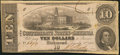 Confederate Notes:1862 Issues, T52 $10 1862 PF-4 Cr. 372.. ...