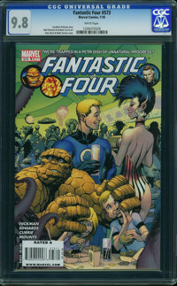 Fantastic Four V3#573 - WESTPORT COLLECTION (Marvel, 2009) CGC NM/MT 9.8 White pages