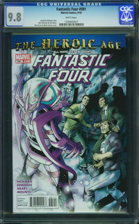 Fantastic Four V3#581 - WESTPORT COLLECTION (Marvel, 2010) CGC NM/MT 9.8 White pages
