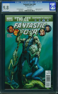 Fantastic Four 585 dont use - WESTPORT COLLECTION (Marvel, 2011) CGC NM/MT 9.8 White pages