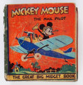 Platinum Age (1897-1937):Miscellaneous, Big Little Book #nn Mickey Mouse the Mail Pilot (hardcover) (Deanand Son, 1933) Condition: Apparent GD....