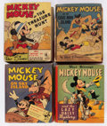 Big Little Book:Miscellaneous, Big Little Book Mickey Mouse Related Group (Whitman, 1941-44)Condition: Average FN.... (Total: 10 Comic Books)