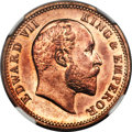 India:British India, India: British India. Edward VII Original Proof 1/4 Anna 1906-(C) PR65 Red and Brown NGC,...