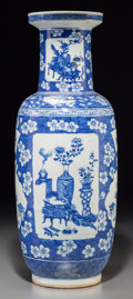 Asian:Chinese, A Chinese Blue and White Porcelain Vase, Qing Dynasty, 19thcentury. 23-3/4 inches high (60.3 cm). The vase of baluster fo...