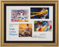 Autographs:Photos, LeRoy Neiman Signed & Framed Triple Crown Poster. ...