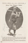 Baseball Collectibles:Others, 1930's Jimmie Foxx Signed Magazine Page....