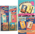 Non-Sport Cards:Singles (Pre-1950), 1940's Mutoscope Vending Machine Display Signs Trio (3). ...