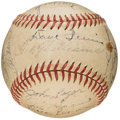 Autographs:Baseballs, 1946 Boston Red Sox Team Signed Ball (25 Signatures) - AmericanLeague Pennant Winning Season!...