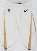 Football Collectibles:Uniforms, 2016 NFL Pro Bowl Team Rice Game Issued Pants. ...