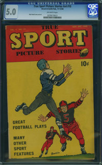 True Sport Picture Stories V4#10 (Street & Smith, 1948) CGC VG/FN 5.0 Off-white pages