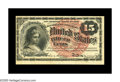 Fr. 1267 15¢ Fourth Issue About New. The huge bottom margin on this 15¢ note affords a nice clear look at the...