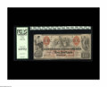 Confederate Notes:1861 Issues, T22 $10 1861. This $10 sports serial number 11871-C. This too is a scarce R-3 note with a Fricke listing of T-22 PF-2 CR-152...