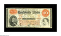 Confederate Notes:1861 Issues, T24 $10 1861. A single edge nick is discovered on this attractive example of this popular design. Very Fine....