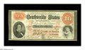 Confederate Notes:1861 Issues, T24 $10 1861. Sound edges and paper host this attractive $10 with a nice orange print. Very Fine....