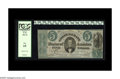 Confederate Notes:1861 Issues, T33 $5 1861. Serial number 31708-K is listed in the Fricke work as the fifth finest T-33 PF-7 State II CR-254Ca. Plate State...
