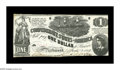 Confederate Notes:1862 Issues, T44 $1 1862. Low grade is the norm for this design, with thisattractive note being a welcomed respite. A tiny edge nick and...