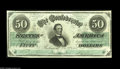 Confederate Notes:1862 Issues, T50 $50 1862. An attractive and decently margined piece with sharpcolors and bold signatures. Very Fine-Extremely Fine....