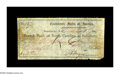 Confederate Notes:1862 Issues, Subsistence Department $12.60 Dec. 1, 1862. This approximate 5.25by 2.5 inch form is signed by Confederate Captain and Assi...