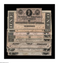 Confederate Notes:Group Lots, A Denomination Set of 1864 Issues including T64 CU stains; T65 AU;T66 CU; T67 CU; T68 XF; T69 AU; T... (Total: 9 notes)